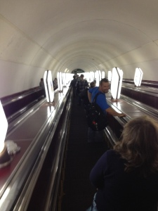 The 2 1/2 Minute Escalator to the Metro